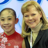 2013 National Amy Lin with Coach Tammy Gambill