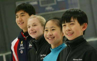 From left, Shotoro Omori, Tyler Pierce, Amy Lin, Vincent Zhou. (Staff photo: Stan Lim)