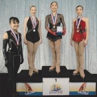 Junior Ladies Podium at 2014 Pacific Coast Sectional